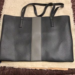 Vince Camuto tote. Black and gray stripe.